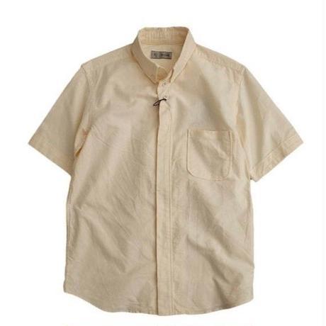 nisica(ニシカ)  ボタンダウンシャツ  半袖   YELLOW
