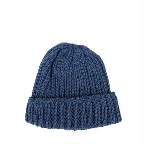 Weac.(ウィーク)   COTTON KNITCAP  BLUE