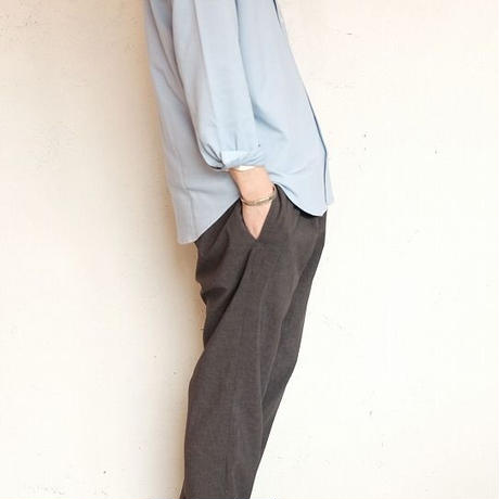 LAMOND(ラモンド)   SHARI PANTS  CHAMBRAY BLACK