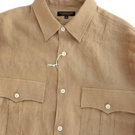 *AVONTADE(アボンタージ)  Safari Shirt   TAN