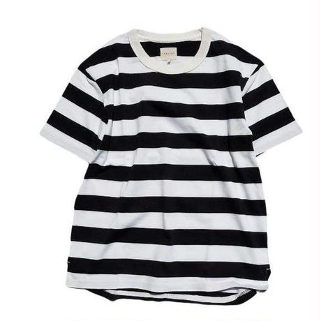 CURLY(カーリー)  ADVANCE SS BORDER TEE   NAVY