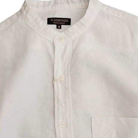 *A VONTADE(アボンタージ)   Banded Collar Shirts  WHITE