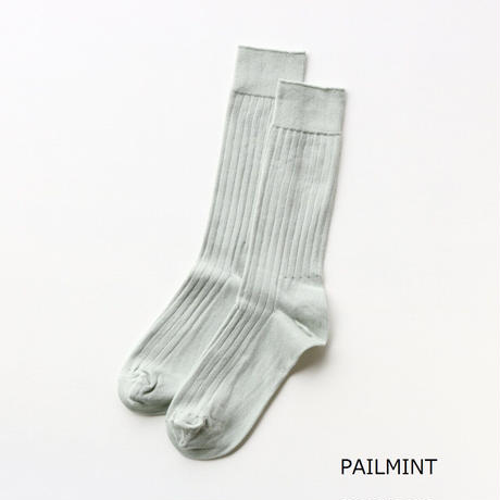 LUCKYSOCKS(ラッキーソックス)  ライトリブソックス  PAILMINT  STEALBLUE  INDIGO  LIGHTGRAY  DARKGRAY  BLACK