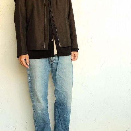 tilt The authentics(チルトザオーセンティックス)   W/Li Chambray Twill Flight Jacket