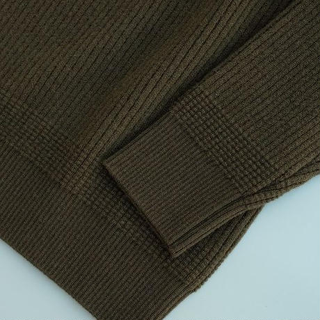 DELICIOUS(デリシャス)   Lamb Wool Knit  KHAKI