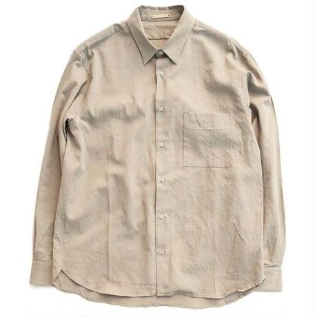 LAMOND(ラモンド)  SWISS COTTON SHIRT  GRAYBEIGE
