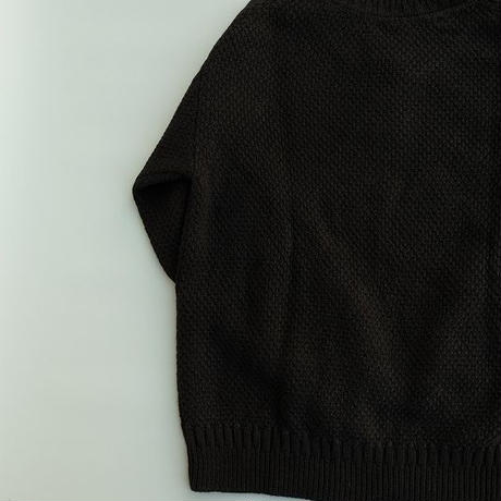 STILL BY HAND(スティルバイハンド)  ローゲージニット  BLACK