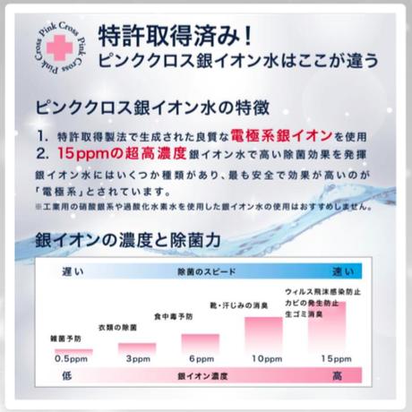 アルコール消毒が使えない方のための 特許商品「Ag+銀イオン水」666回プッシュ可能100ml