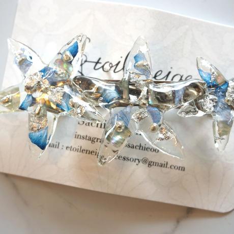 Etoileneige // starfish バレッタ blue
