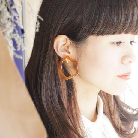 sAn ヘキサゴンラージピアス&イヤリング pierced earrings