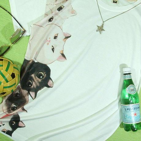 【隅ネコッす、特に愛想はないッす】大人のネコ猫Tシャツネコ猫Tシャツ【サイズ:幅広S 、M 、L 】【5000円以上で】送料無料 Tシャツ メンズ 半袖 大きいサイズ メッセージ 隅ネコ 猫好き 気ま