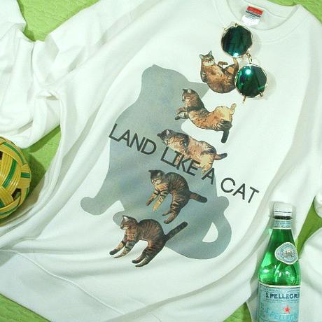 【くるりんパッと、ニャンコ先生★トレーナー長袖】ネコ猫トレーナー【サイズ:S 、M 、L 、XL 】【5000円以上で】送料無料 Tシャツ トレーナー スウェット メンズ 長袖 大きいサイズ ネコの格