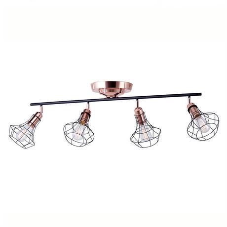 [ ART WORK STUDIO ]  Polygonal 4 remote  ceiling lamp  BK/PG  (ブラック+ピンクゴールド)60Wカーボン電球付属 天井照明 AW0498V