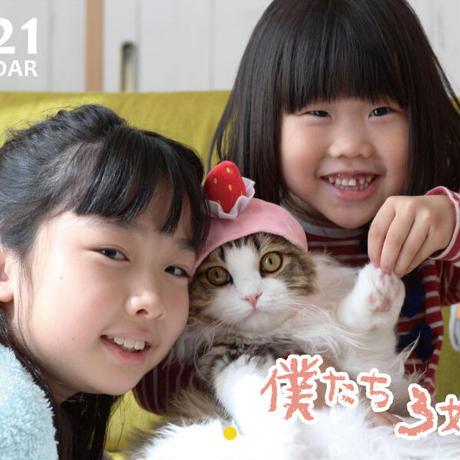 【予約販売】 猫のふわふわこっちゃん 2021年 壁掛けカレンダー KK21046