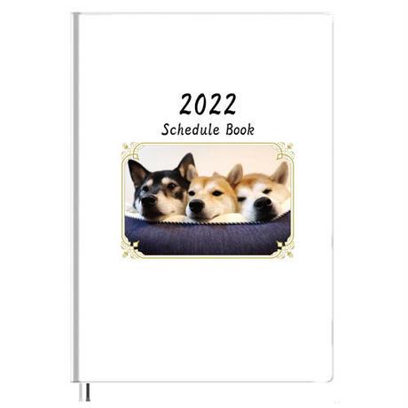 【予約販売】 柴犬 モカ&アン&サラ 2022年 B5スケジュール帳 B52247