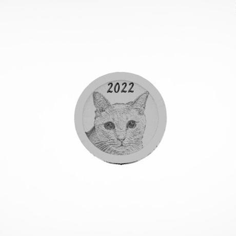 【予約販売】 ひのき猫 2022年 イヤーコイン Year Coin YC2201