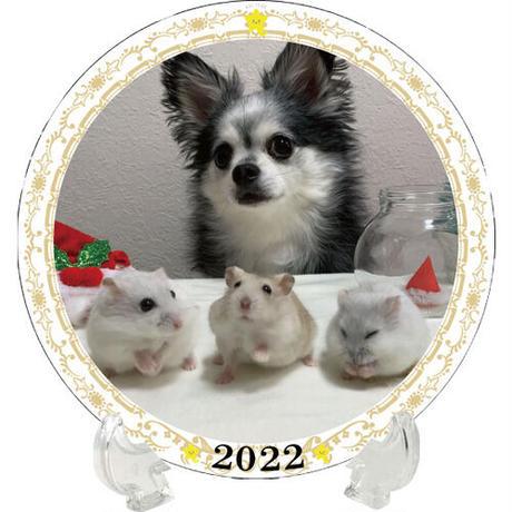 【予約販売】 ハムスター ココ&ナッツ CHANNEL 2022年 イヤープレート皿立て付き PU2208