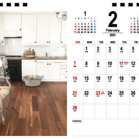 【予約販売】 トイプードル haruberu 2021年 卓上カレンダー TC21095