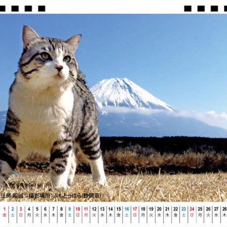 【予約販売】 旅猫 ニャン吉 2021年 卓上カレンダー TC21034