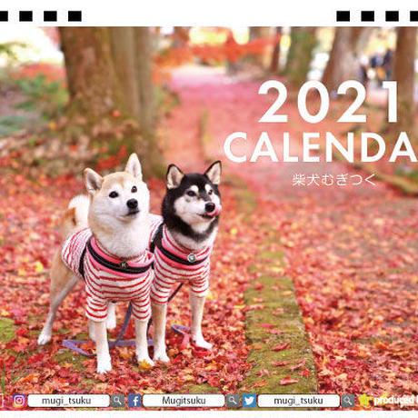 【予約販売】 柴犬 むぎつく 2021年 卓上カレンダー TC21100