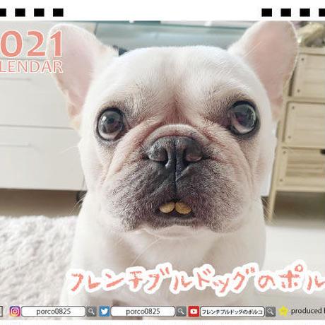【予約販売】 フレンチブルドッグのポルコ 2021年 卓上カレンダー TC21080