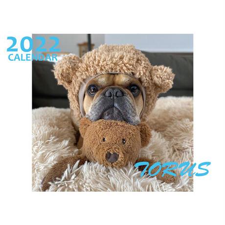 【予約販売】 フレンチブルドッグ torus トーラス 2022年 壁掛け カレンダー KK22022