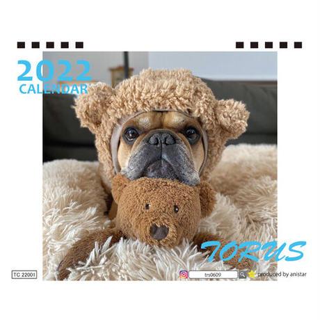 【予約販売】 フレンチブルドッグ torus トーラス 2022年 卓上 カレンダー TC22023