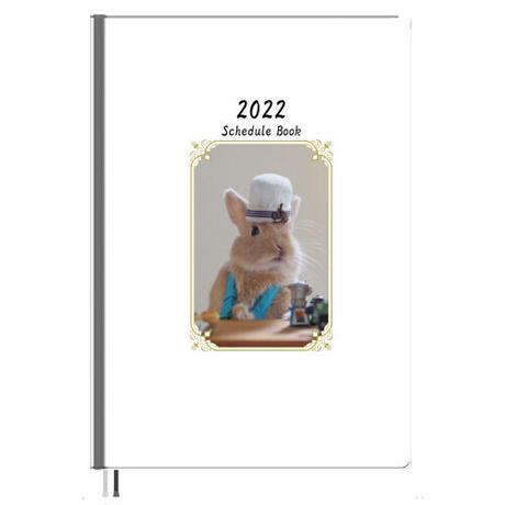 【予約販売】 うさぎ 毎日がかんぺい 2022年 A5スケジュール帳 A52232