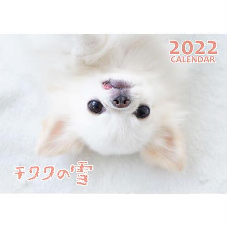 【予約販売】 チワワの雪 2022年 壁掛け カレンダー KK22122
