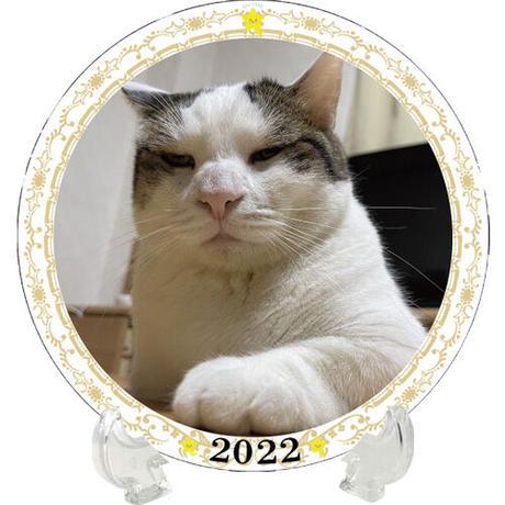 【予約販売】 ひのき猫 2022年 イヤープレート皿立て付き PU2204