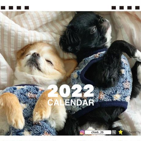 【予約販売】 チワワ TORO&UNI 2022年 卓上 カレンダー TC22004