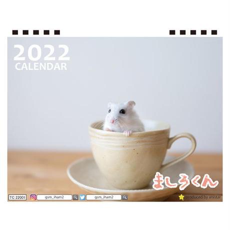 【予約販売】 ハムスター ましろくん 2022年 卓上 カレンダー TC22072