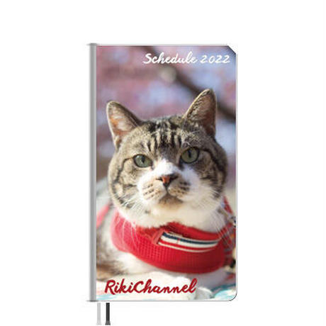 【予約販売】 猫のリキちゃんねる 2022年 ポケットサイズ スケジュール帳 PO2264