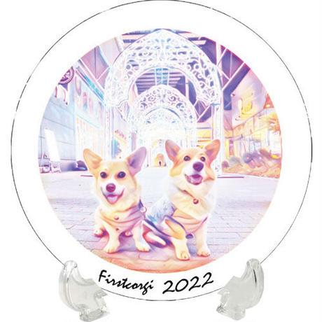 【予約販売】 初めてのコーギー 2022年 イヤープレート皿立て付き PU2206