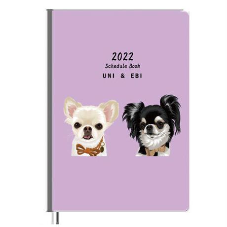 【予約販売】 チワワ UniEbi 2022年 A5スケジュール帳 A52204
