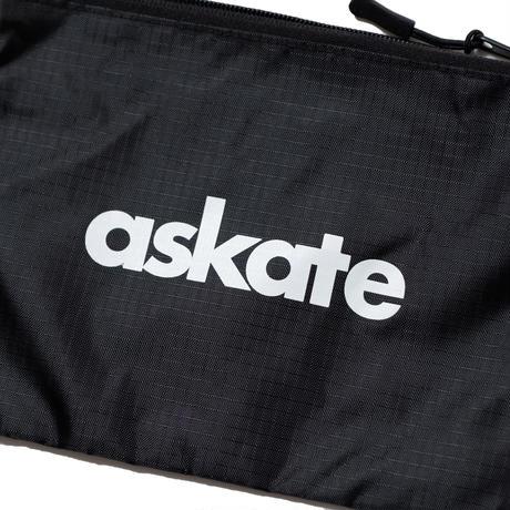 askate Logo Ripstop Sacoche Black