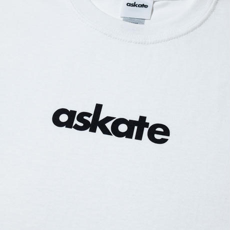 askate Kids Logo S/S Tee White