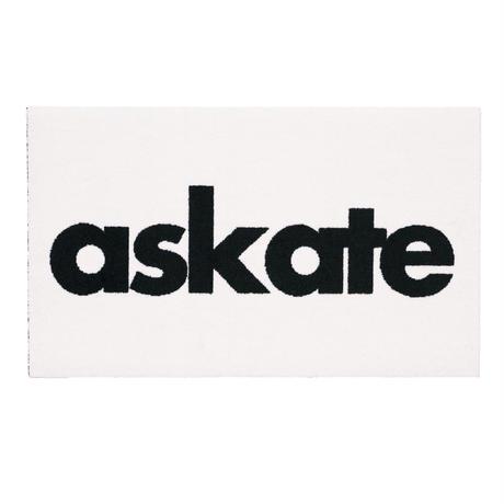 askate Logo Rug Mat White
