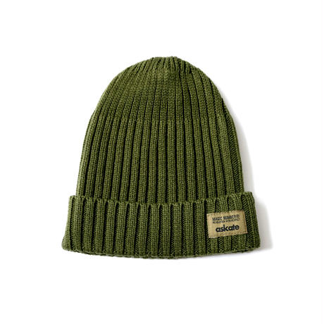 askate MAGICNUMBER Cotton Rib Beanie Olive