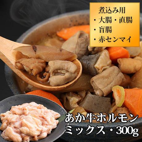 あか牛ホルモン(大腸・直腸・盲腸・赤センマイ のミックス)煮込み用・300g