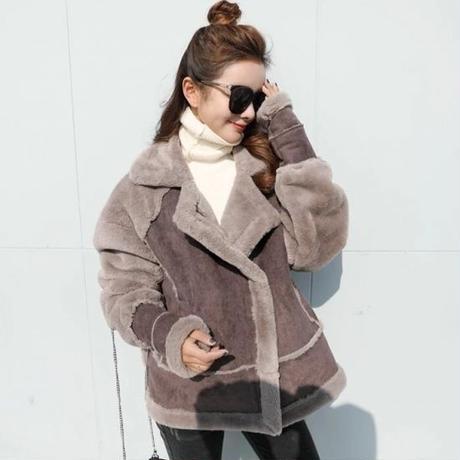 たっぷりボア ジャケット オーバーサイズ ムスタン コート