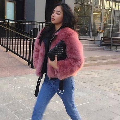 ふかふか ピンク フェイクファー カジュアル ショート丈 コート
