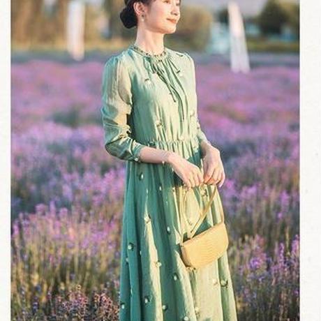 シフォン ワンピース ドレス フォーマル 上品 可愛い 花柄
