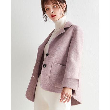 ウールコート 暖かい 可愛い ジャケット 秋冬 上品