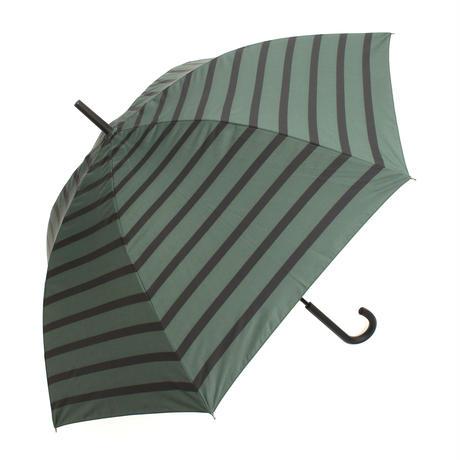 【a.s.s.a】ARL263 パネルボーダー メンズ晴雨兼用傘  (グリーン・ブラック)
