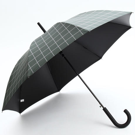 【a.s.s.a】FJ169  メンズ日傘  完全遮光 100cm (グリーン・ネイビー)