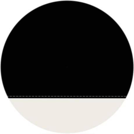 【a.s.s.a】FM-202 バイカラー切り継ぎ(ブラック・アイボリー)
