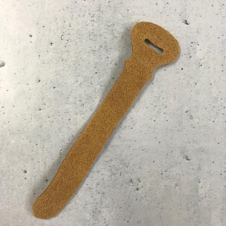 ベロア革 ジッパータブ7本セット(タン)小さいタイプ