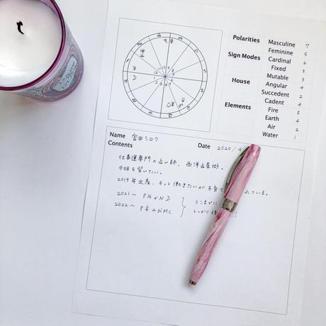 占星術師向けクライアントシート(英語版・縦横セット)