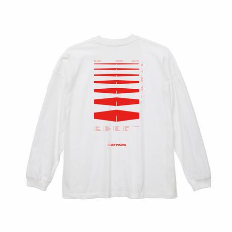 BTMKRS PAD LONG WHITE T-shirts(ink: RED)